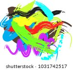 abstract colorful brush stroke... | Shutterstock .eps vector #1031742517