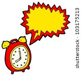 cartoon ringing alarm clock | Shutterstock . vector #103175213