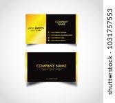 golden luxury business card... | Shutterstock .eps vector #1031757553