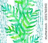 watercolor hand drawn summer...   Shutterstock . vector #1031760343