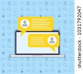 short message service bubbles... | Shutterstock .eps vector #1031792047