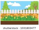 home garden yard  vector... | Shutterstock .eps vector #1031803477