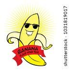 banana character vector file | Shutterstock .eps vector #1031819017