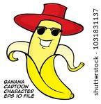 banan cartoon character | Shutterstock .eps vector #1031831137