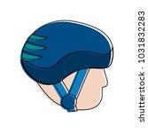 sports helmet icon image  | Shutterstock .eps vector #1031832283