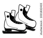 ice skates winter sports... | Shutterstock .eps vector #1031832433