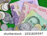 currency thai baht   coin and... | Shutterstock . vector #1031839597