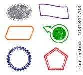 stamps frames on white... | Shutterstock .eps vector #1031841703
