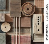 abstract scrap wood blocks.... | Shutterstock . vector #1031842207