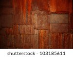 the abstract  background of metal rusted patches - stock photo