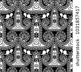 black and white paisley vector... | Shutterstock .eps vector #1031857417