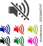 mute sound vector icon for web... | Shutterstock .eps vector #1031869747