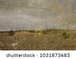 landscape with flowers in... | Shutterstock . vector #1031873683