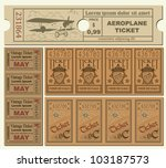 vintage tickets | Shutterstock .eps vector #103187573