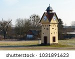 clock tower in one of the... | Shutterstock . vector #1031891623