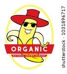 banana character label vector... | Shutterstock .eps vector #1031896717