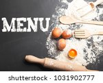 ingredients for cooking next to ...   Shutterstock . vector #1031902777
