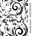 seamless design curls leaves...   Shutterstock .eps vector #1031905333