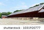 the jongmyo shrine in seoul ... | Shutterstock . vector #1031920777