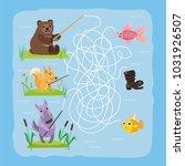 maze game kids brain training...   Shutterstock .eps vector #1031926507