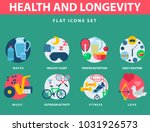 health and longevity icons... | Shutterstock .eps vector #1031926573