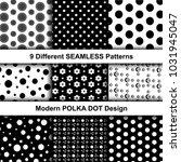 set of creative monochrome... | Shutterstock .eps vector #1031945047