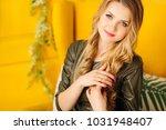 close up of a beautiful woman... | Shutterstock . vector #1031948407