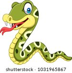 cartoon happy snake isolated on ... | Shutterstock .eps vector #1031965867