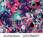 seamless splatter paint pattern   Shutterstock .eps vector #1031986057