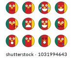 set of cameroon emoji. | Shutterstock . vector #1031994643