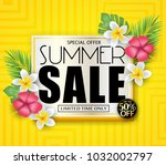 special offer summer sale for... | Shutterstock .eps vector #1032002797