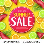 special offer summer sale in... | Shutterstock .eps vector #1032003457