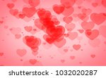 red and pink heart. valentine's ... | Shutterstock . vector #1032020287