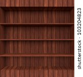 3d old wooden book shelf | Shutterstock . vector #103204823