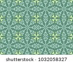 vector simple moroccan pattern. ... | Shutterstock .eps vector #1032058327