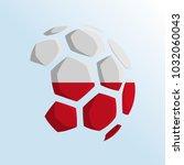 ball shaped of flag  poland... | Shutterstock .eps vector #1032060043