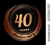 40 years anniversary.... | Shutterstock .eps vector #1032061507