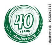 40 years anniversary.... | Shutterstock .eps vector #1032061513
