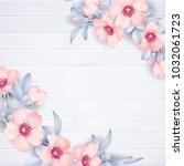 wedding invitation with wild... | Shutterstock .eps vector #1032061723