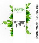vector green earth banner   Shutterstock .eps vector #103207103