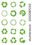 set of green recycle arrow...