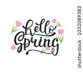 vector illustration of spring... | Shutterstock .eps vector #1032089383