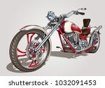 classic vintage motorcycle. | Shutterstock .eps vector #1032091453