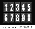 numbers set in modern style. ... | Shutterstock . vector #1032100717