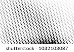 abstract monochrome halftone... | Shutterstock .eps vector #1032103087
