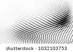 abstract monochrome halftone... | Shutterstock .eps vector #1032103753