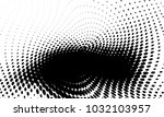 abstract monochrome halftone... | Shutterstock .eps vector #1032103957
