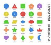 big color set vector basic 2d... | Shutterstock .eps vector #1032108397