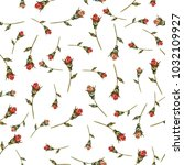 seamless pattern with rose... | Shutterstock .eps vector #1032109927