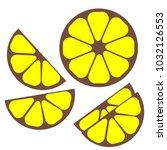 simplified lemon for packing | Shutterstock .eps vector #1032126553